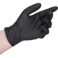 GANT DE NITRILE NOIR ROBUSTE MEDIUM