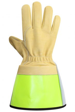 "SUMMER LINEMAN GLOVES INTERIOR SEWING 5"" GAUNTLET YELLOW"
