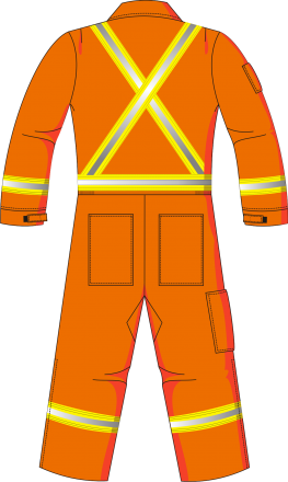 HABIT HAUTE VISIBILITÉ ARC FLASH ORANGE