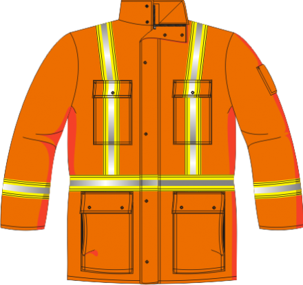 HIGH VISIBILITY ARC FLASH ISOLATED PARKA FIREPROOF WITH CAP
