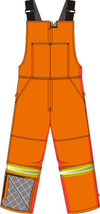 HIGH VISIBILITY ARC FLASH ISOLATED BIB PANTS FIREPROOF